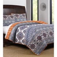 Medina Reversible King Quilt Set in Saffron