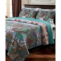 Nirvana Full/Queen Quilt Set in Teal