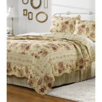 Antique Rose Twin Quilt Set