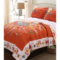 Topanga Reversible King Quilt Set in Sienna