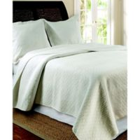 Vashon King Quilt Set in Ivory
