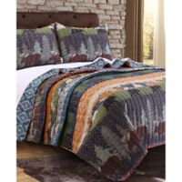 Black Bear Lodge Full/Queen Quilt Set in Natural