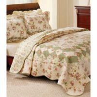 Bliss Reversible Full/Queen Quilt Set in Ivory