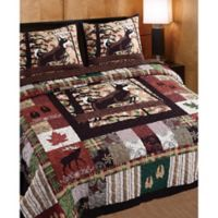 Whitetail Lodge King Quilt Set in Natural