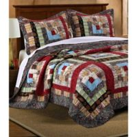 Colorado Lodge Reversible Full/Queen Quilt Set in Natural