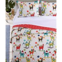 Cuzco Reversible King Quilt Set in Off White