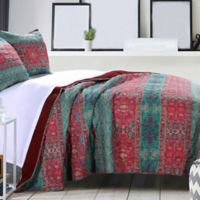 Dakota Reversible King Quilt Set in Sunset