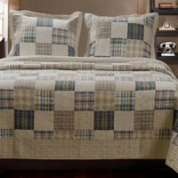 Oxford Reversible King Quilt Set in Natural