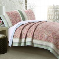 Palisades Reversible King Quilt Set in Pastel