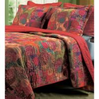 Jewel Reversible Twin Quilt Set in Red