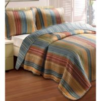 Katy Reversible King Quilt Set in Natural