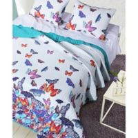 Mariposa Reversible King Quilt Set in White
