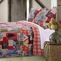 2-Piece Twin Rustic Lodge Quilt Set in Natural