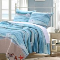 2-Piece Twin Maui Quilt Set in Turquoise