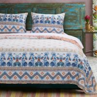 Aleena Full/Queen Quilt Set in Ivory