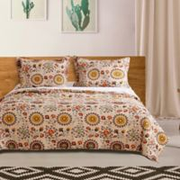 Andorra Reversible Twin Quilt Set in Taupe