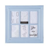Melannco 6-Opening Window Collage Frame in Pale Blue