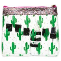 Miamica® 12-Piece Glitter Cactus Travel Bottle and Bag Kit in Green