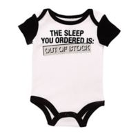 "Baby Starters® Newborn BWA ""Out of Stock"" Bodysuit in White"
