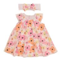 Baby Starters® Size 9M 2-Piece Floral Dress and Headband Set