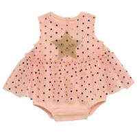 Baby Starters® Newborn Star Skirted Bodysuit in Pink