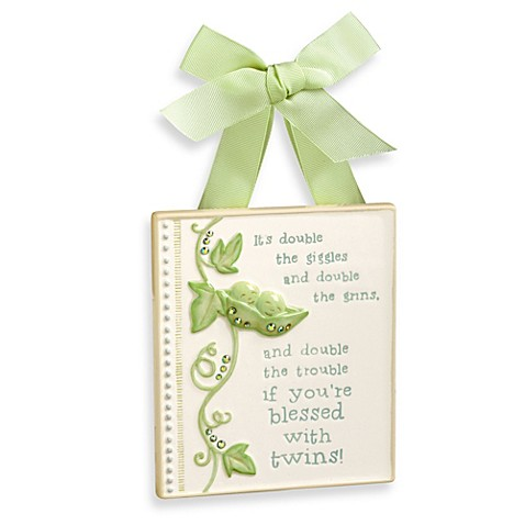 Peas In A Pod Twins Plaque
