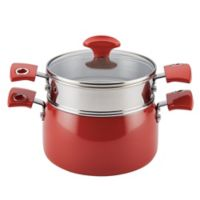 Rachael Ray™ Cityscapes 3 qt. Porcelain Enamel Covered Steamer Set in Cherry