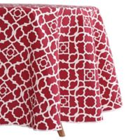 Waverly Lexie Indoor/Outdoor 60-Inch Tablecloth in Red