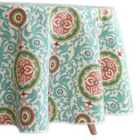 Waverly Lexie Indoor/Outdoor 70-Inch Round Tablecloth in Blue