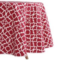 Indoor/Outdoor 70-Inch Round Tablecloth in Red
