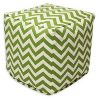 Majestic Home Goods™ Polyester Chevron Ottoman in Sage