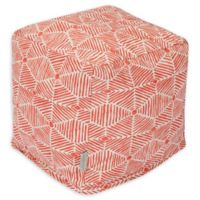 Majestic Home Goods™ Cotton Charlie Ottoman in Salmon