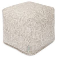 Majestic Home Goods™ Cotton Charlie Ottoman in Beige