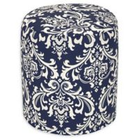 Majestic Home Goods™ Polyester French Quarter Ottoman in Navy