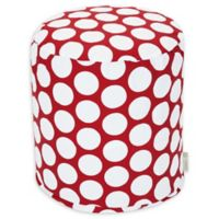Majestic Home Goods™ Cotton Large Polka Dot Ottoman in Red Hot