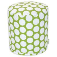 Majestic Home Goods™ Cotton Large Polka Dot Ottoman in Hot Green
