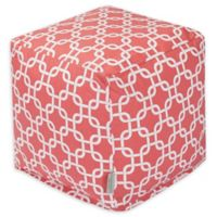 Majestic Home Goods™ Cotton Links Ottoman in Coral