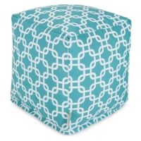 Majestic Home Goods™ Polyester Links Ottoman in Teal