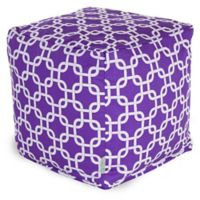 Majestic Home Goods™ Cotton Links Ottoman in Purple