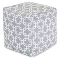 Majestic Home Goods™ Polyester Links Ottoman in Gray