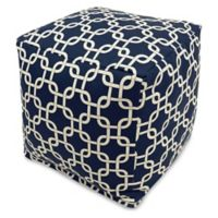 Majestic Home Goods™ Polyester Links Ottoman in Navy