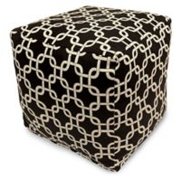 Majestic Home Goods™ Polyester Links Ottoman in Black