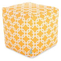 Majestic Home Goods™ Polyester Links Ottoman in Yellow