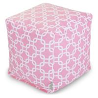 Majestic Home Goods™ Cotton Links Ottoman in Soft Pink