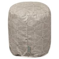 Majestic Home Goods™ Cotton Charlie Round Ottoman in Beige