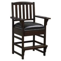 American Heritage Billiards Leather Upholstered King Chair in Sierra