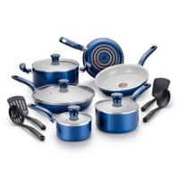 T-Fal® Initiatives Ceramic 14-Piece Cookware Set in Blue