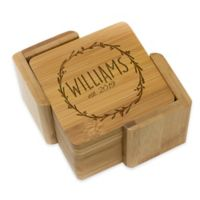 Stamp Out Square Wreath Coasters (Set of 6)