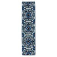 Liora Manne Moroccan Medallion 2' X 8' Runner Tufted in Blue