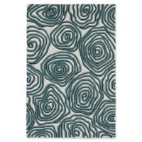 "Liora Manne Block Print 3'6"" X 5'6"" Tufted Area Rug in Navy"